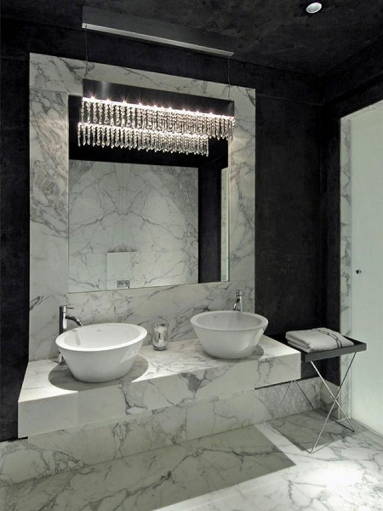 15 Amazing Black and White (Monochrome) Bathroom Design Ideas on Monochromatic Bathroom Ideas  id=81510