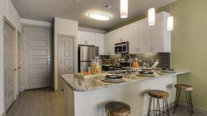 Bar Kitchen at Routh Street Flats Apartments in Dallas TX Lux Locators Dallas Apartment Locators