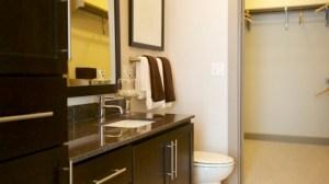 Bathroom at Alara Uptown Apartments in Uptown Dallas TX Lux Locators Dallas Apartment Locators