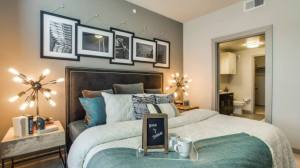Bedroom at Routh Street Flats Apartments in Dallas TX Lux Locators Dallas Apartment Locators