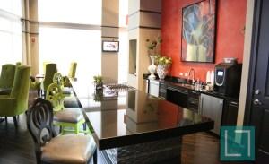 Community Kitchen Area at Gables Uptown Trail Apartments in Dallas TX Lux Locators Dallas Apartment Locators