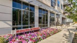 Front Entrance at Routh Street Flats Apartments in Dallas TX Lux Locators Dallas Apartment Locators
