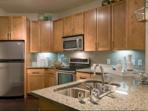 Kitchen Bar at The Monterey by Windsor Apartments in Uptown Dallas TX Lux Locators Dallas Apartment Locators