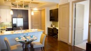 Kitchen Study at Alara Uptown Apartments in Uptown Dallas TX Lux Locators Dallas Apartment Locators