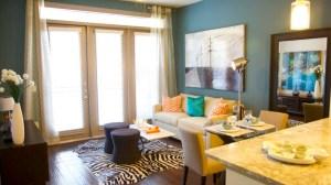 Living Rom at Alara Uptown Apartments in Uptown Dallas TX Lux Locators Dallas Apartment Locators