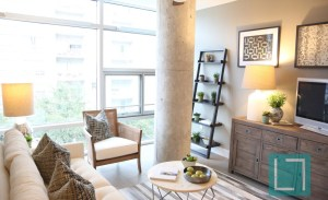 Living Room View at Gallery at Turtle Creek Apartments in Uptown Dallas TX Lux Locators Dallas Apartment Locators