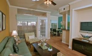 Living Room at Riviera at West Villiage Apartments in Uptown Dallas TX Lux Locators Dallas Apartment Locators