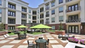 Outdoor Lounge Area at Alara Uptown Apartments in Uptown Dallas TX Lux Locators Dallas Apartment Locators