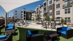 Outdoor Patio Area at Avant Apartments in Uptown Dallas TX Lux Locators Dallas Apartment Locators