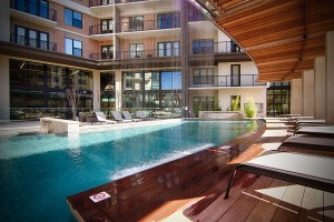 Pool Lounge at The Taylor Apartments in Uptown Dallas TX Lux Locators Dallas Apartment Locators