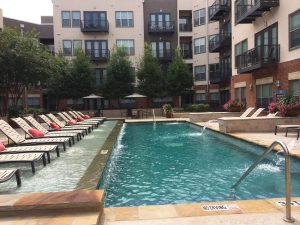Pool at 2929 Wycliff Apartments in Dallas TX Lux Locators Dallas Apartment Locators