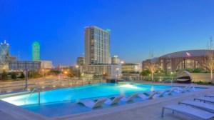 Pool at Moda Victory Park Apartments in Uptown Dallas TX Lux Locators Dallas Apartment Locators