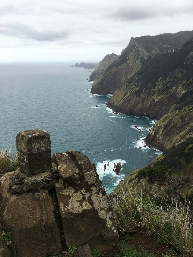 Madeira Portugal mountain trail in Boca do Risco - Larano Walk