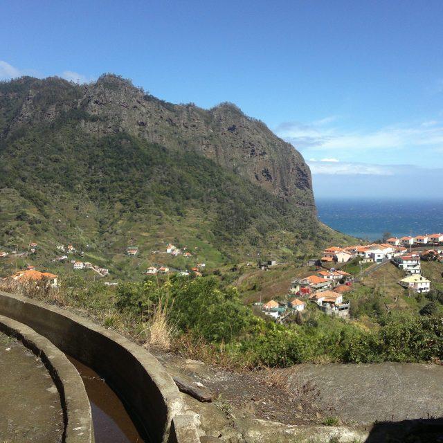 The Eagle's rock formation in Porto da Cruz