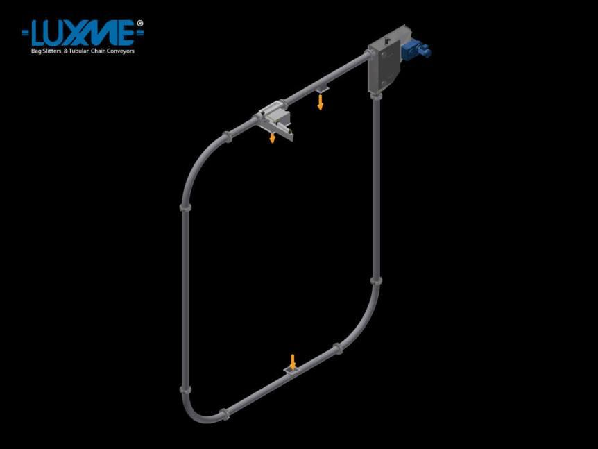 Tubular Chain Conveyor - Square Arrangement