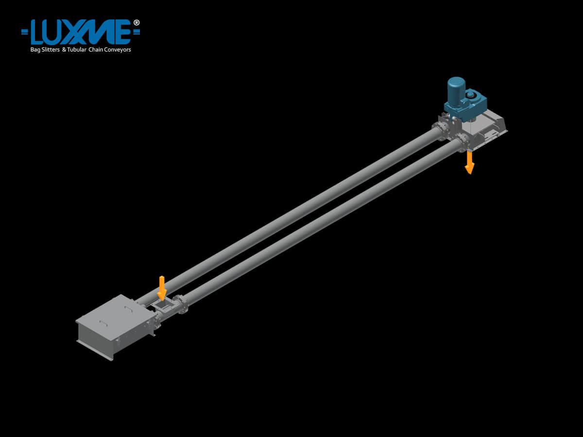 Loop Arrangement A - Tubular Chain Conveyors - Horizontal Conveyor