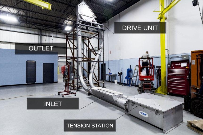 Tubular Chain Conveyor Installation