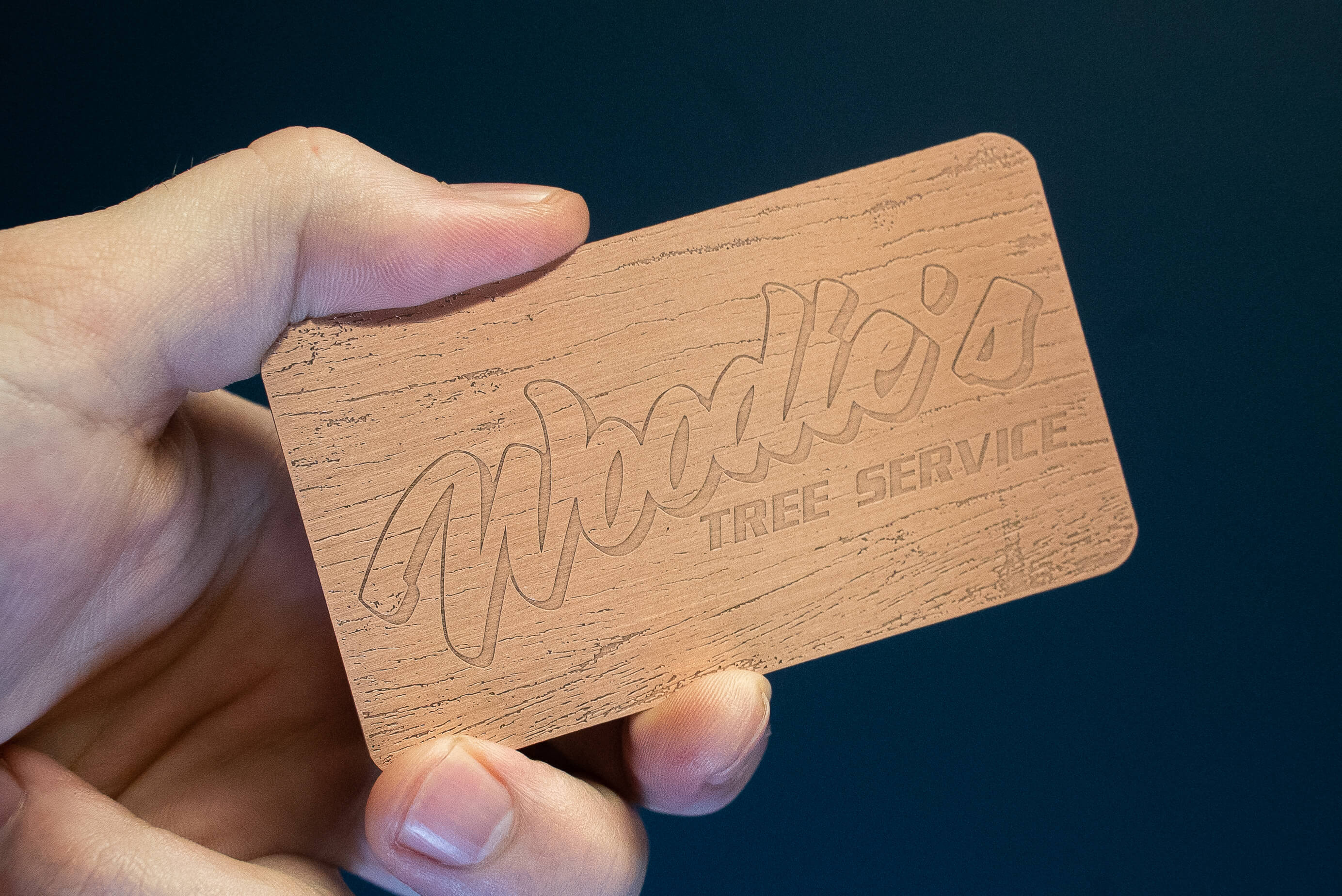 Copper Metal Business Card