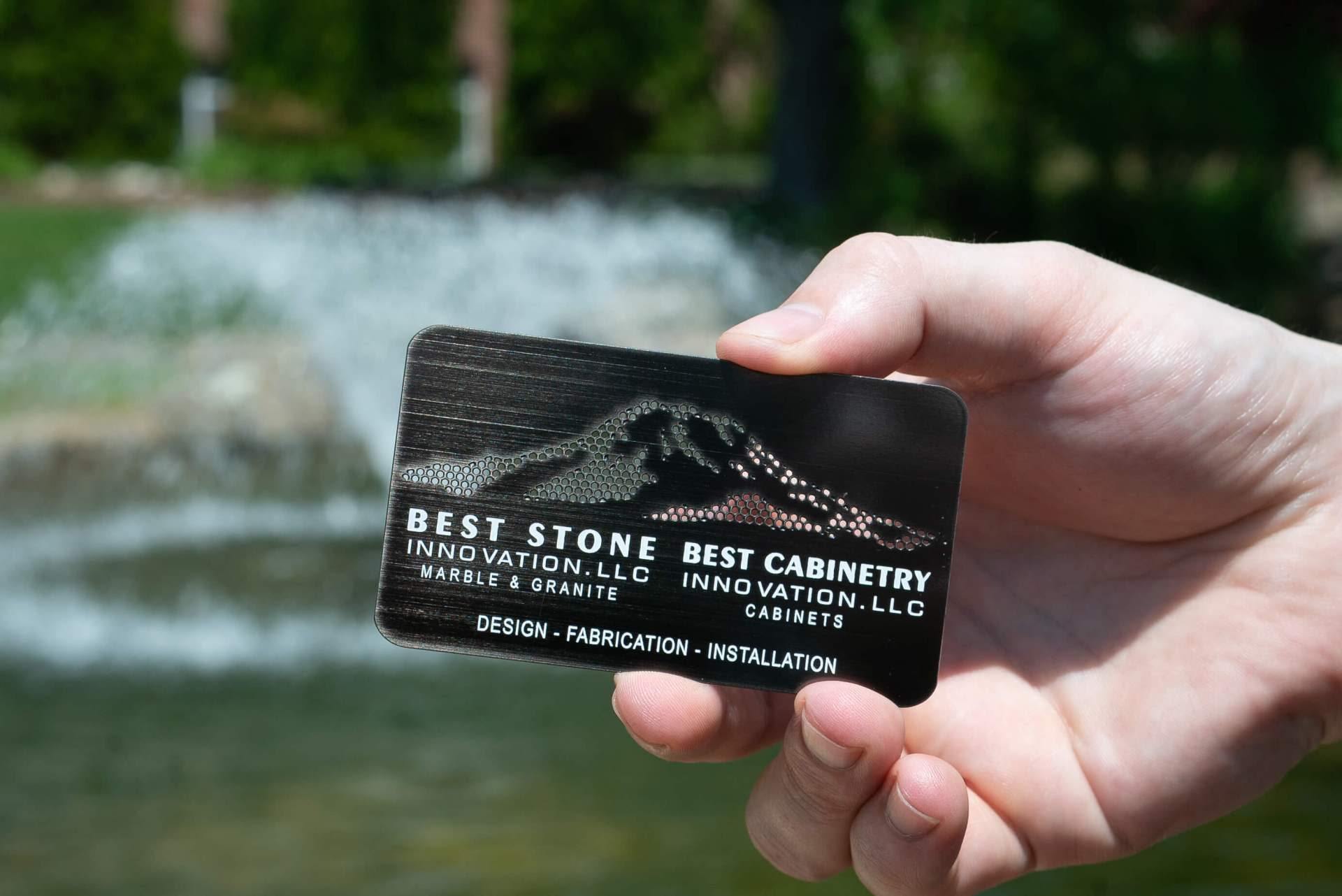 Gun Metal Business Card