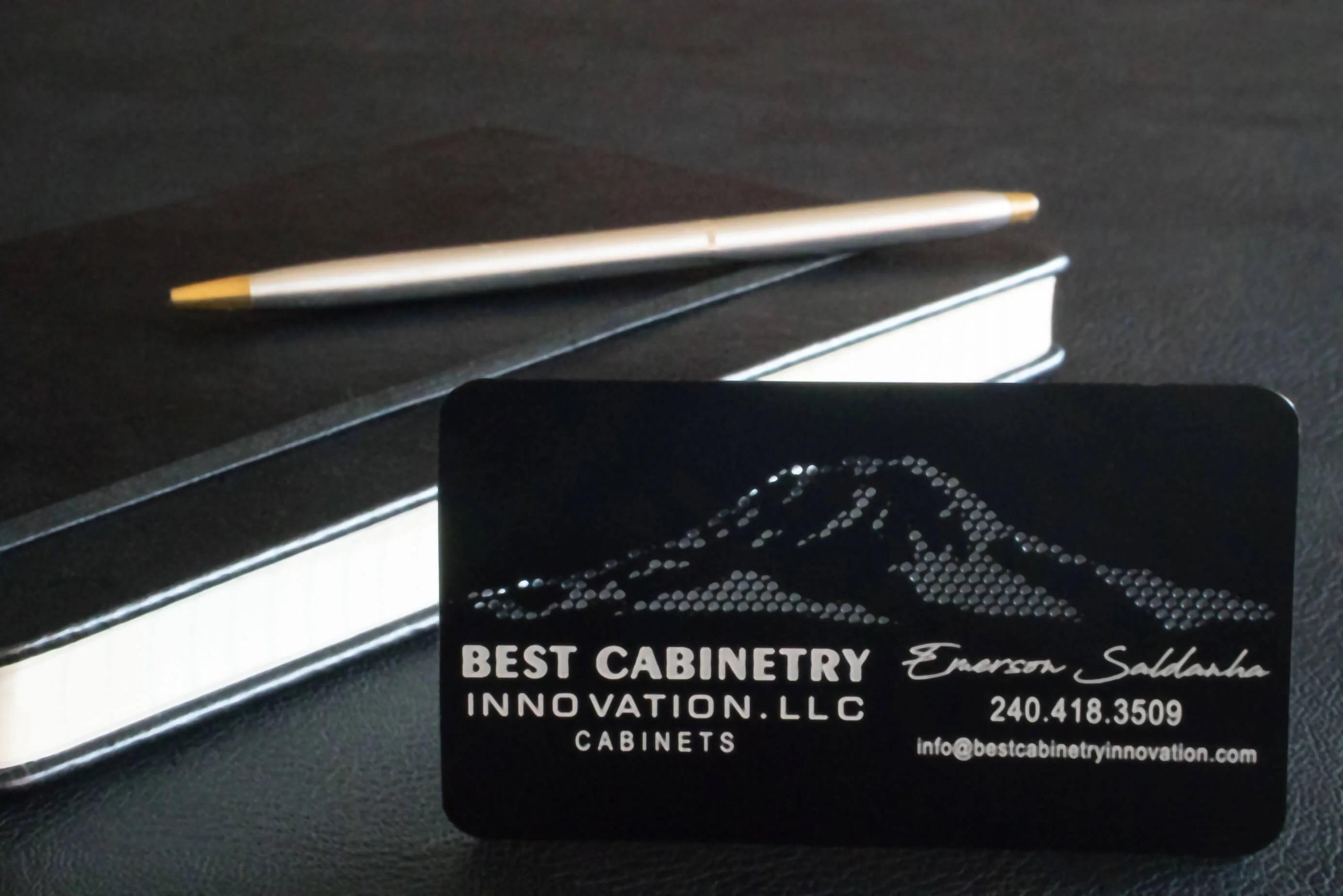 Kitchen Remodeler Metal Business Card