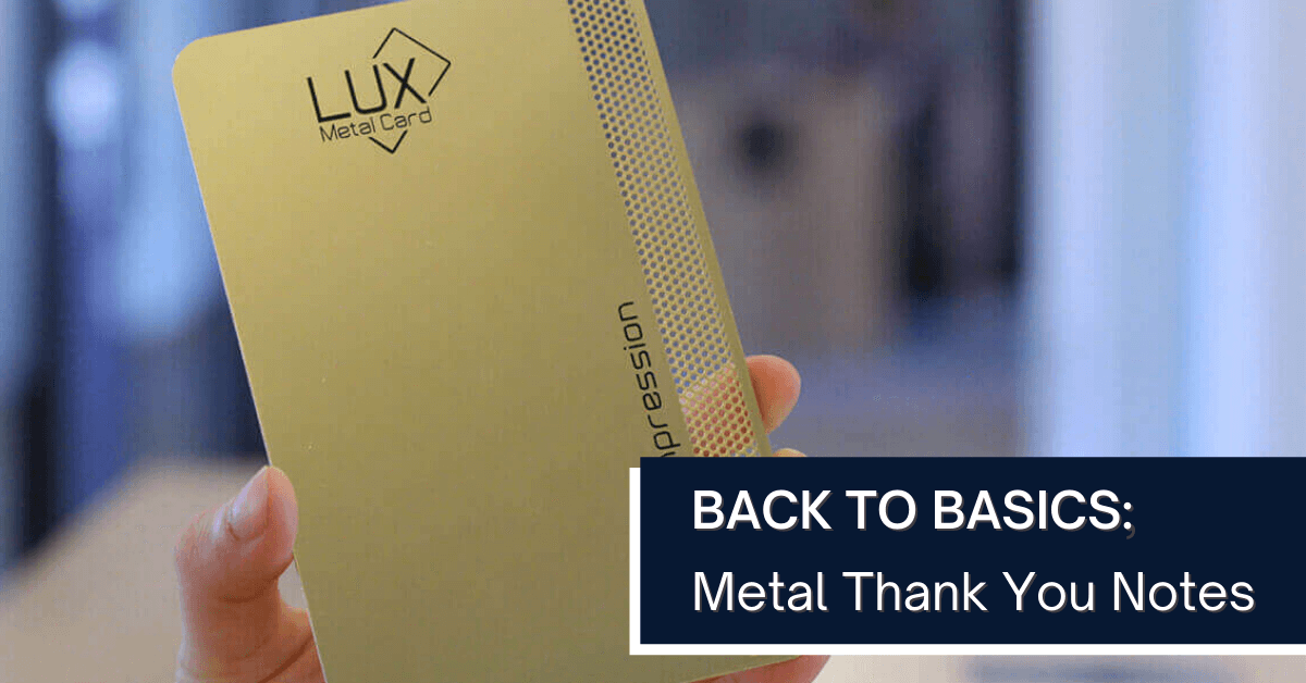 Lux Back to Basics Thank you note graphic