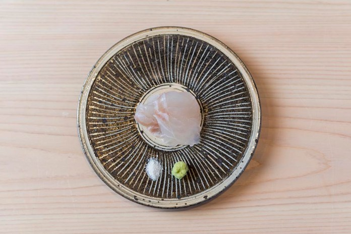Sushi Shin Seasonal Fish Sashimi with Wasabi in the Kamui Annupuri Village Niseko on LuxNiseko Alpine Luxury Lifestyle Magazine