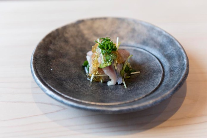 Sushi Shin Seasonal Fish Appetizer in Annupuri Village Niseko on LuxNiseko Alpine Luxury Lifestyle Magazine