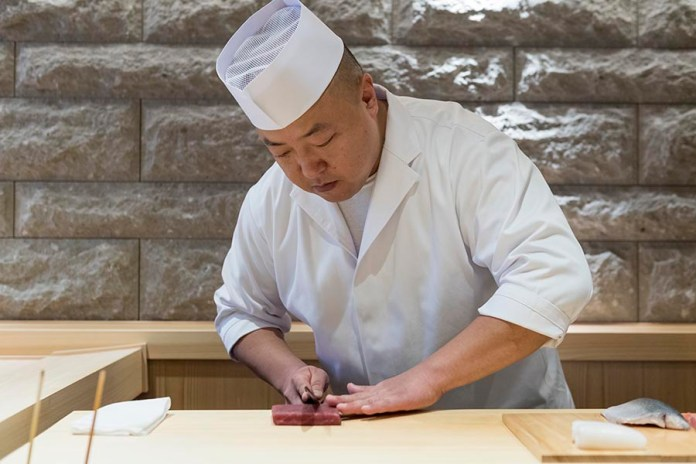 Sushi Shin Chef in Annupuri Village Niseko on LuxNiseko Alpine Luxury Lifestyle Magazine