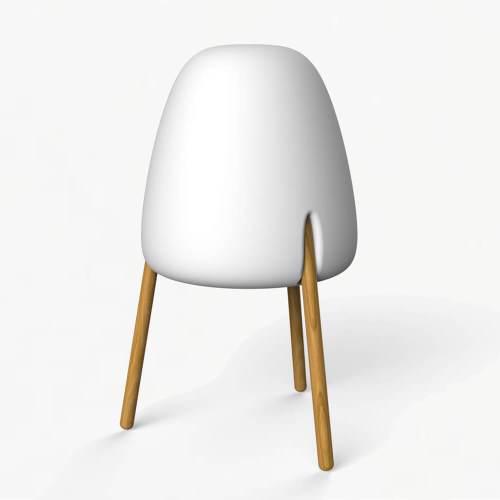 rocket table lamp wood