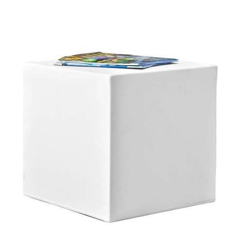 pufy side table white