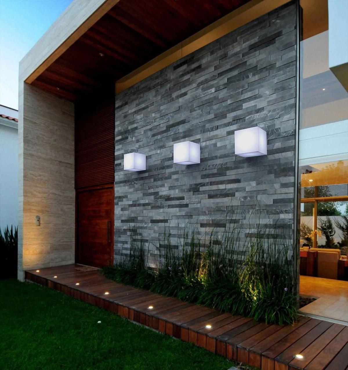 new garden cuby wall outdoor light 2