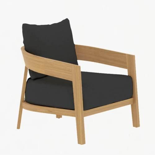 Churchill Lounge Armchair teak slate