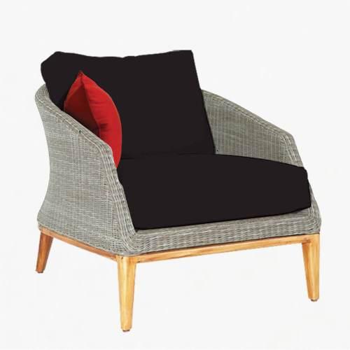 Grace armchair platinum slate