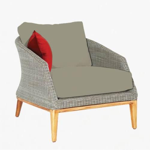 Grace armchair platinum stone