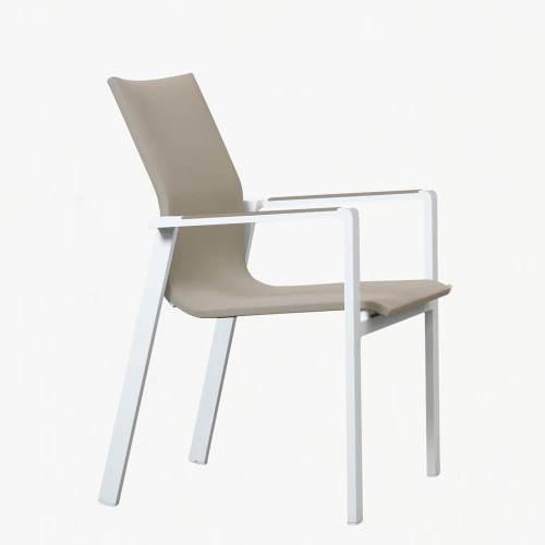 ocean chair white stone
