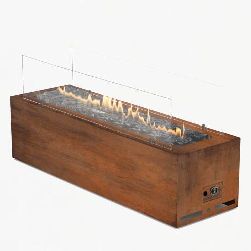 planika galio gas fire manual corten