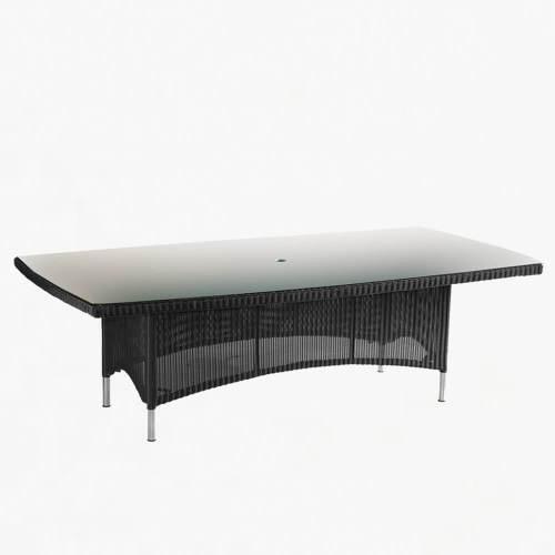 valencia rectangular table 280cm ebony