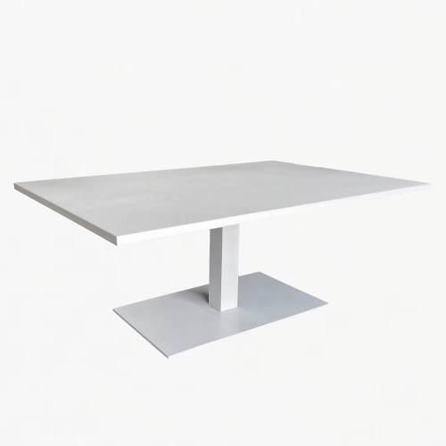 coast pedestal coffee table white