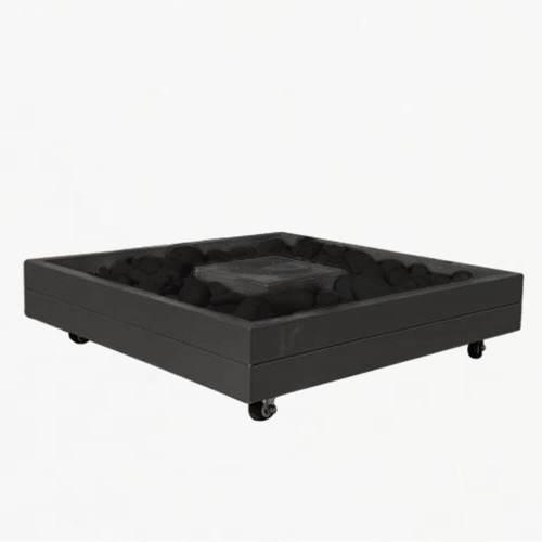 freestanding mobile parasol base tray black