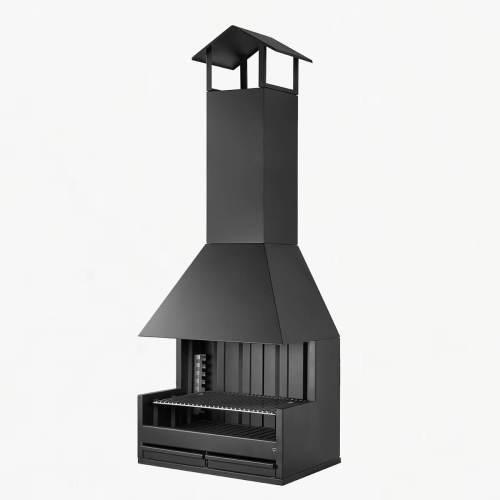 rocal palma 75 charcoal grill outside