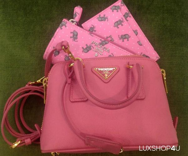 Prada Saffiano Lux Mini Promenade Bag