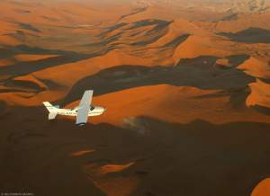 Wilderness Safaris_light aircraft over Namib Desert