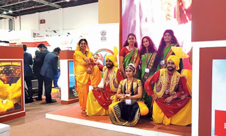 ATM Dubai India stand