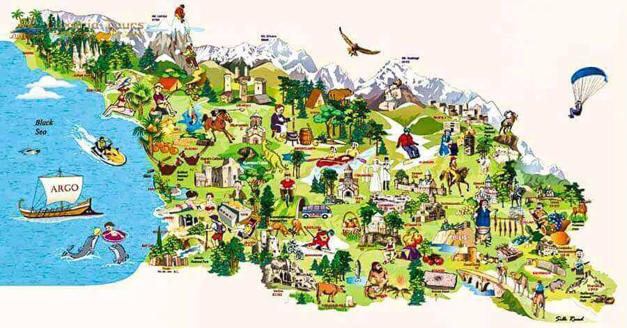Georgia Tourism Map - Luxuria Tours & Events