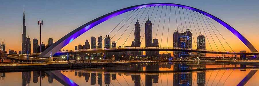 Dubai Canal Sunset - Luxuria Tours Events