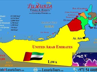 7 Emirates Map - Luxuria Tours & Events