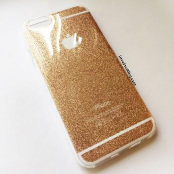 glitter iphone case gold