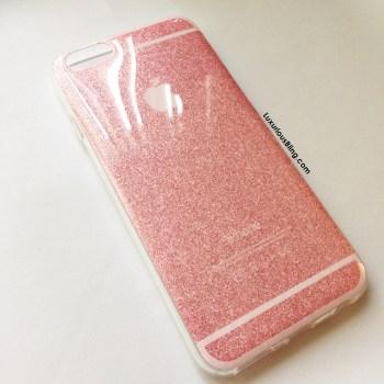 glitter iphone case pink