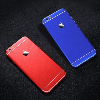 matte iphone skin blue red