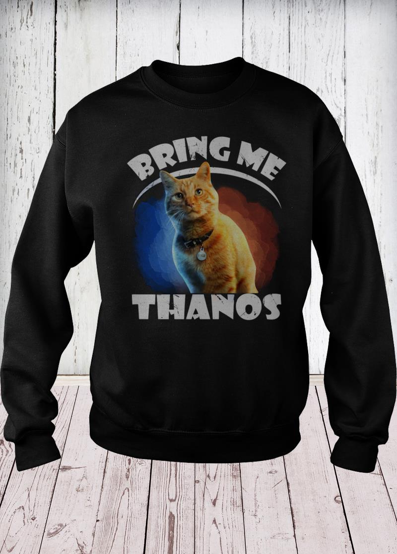 Captain Marvel cat Goose bring me Thanos sweater